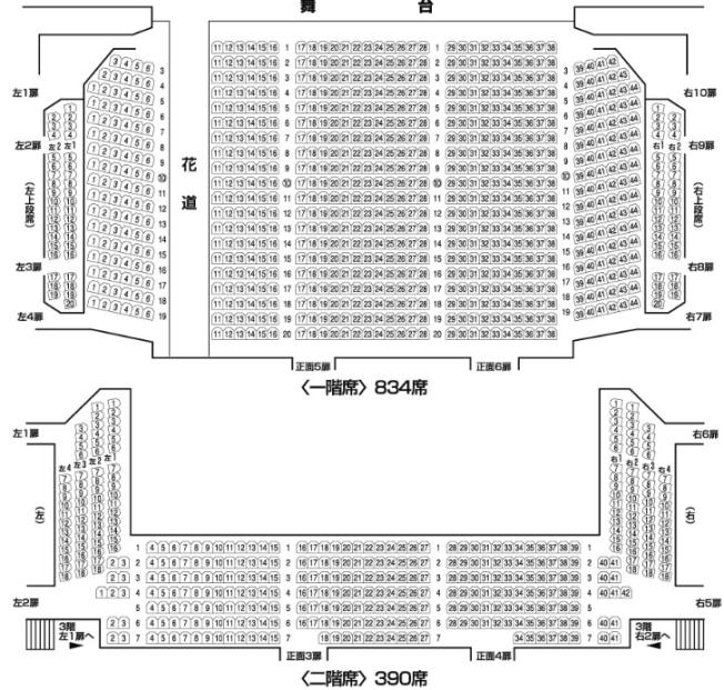 明治座座席表
