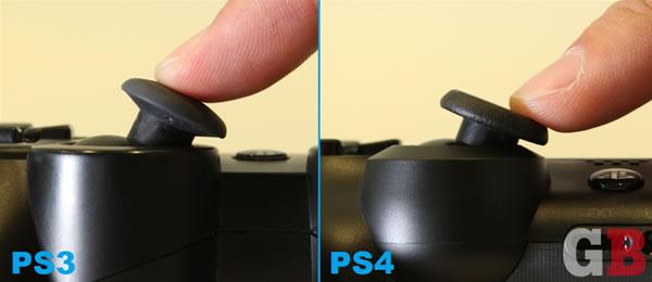 PS3PS4アナログスティック比較