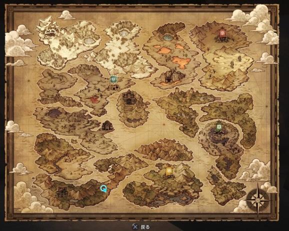 ドラゴンクエストビルダーズの世界地図