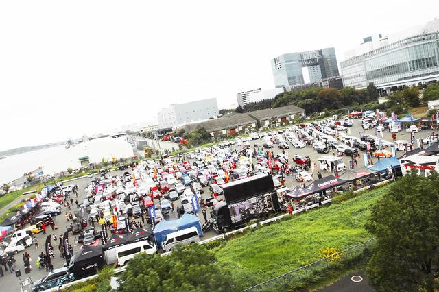 青海南臨時駐車場