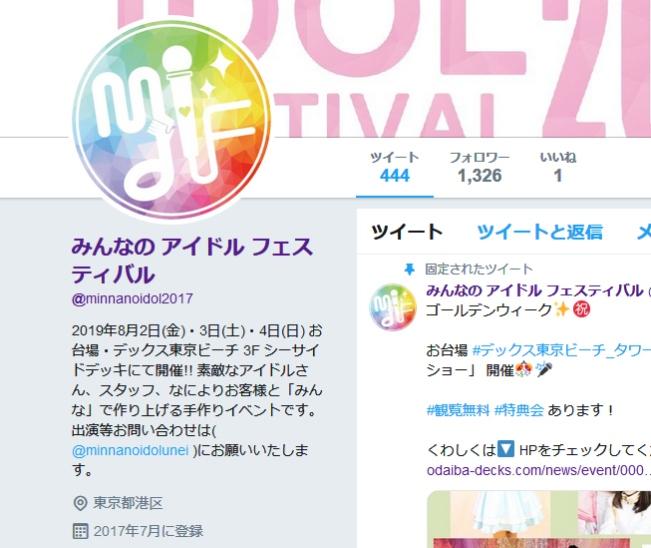 みんなのアイドルフェスティバル2019